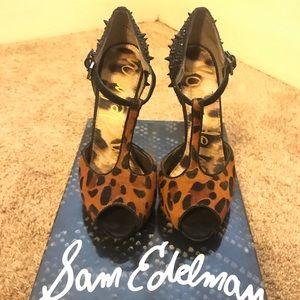 Beautiful Sam Edelman Leopard Scarlett Heels